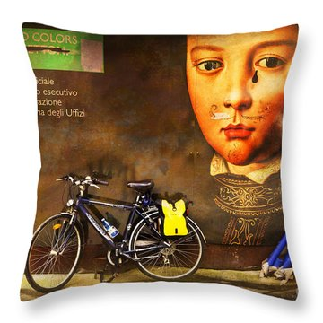 Throw Pillow featuring the photograph United Colors Bicycle by Craig J Satterlee
