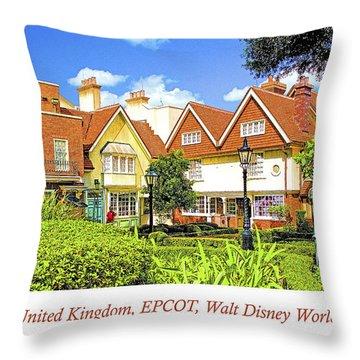 United Kingdom Buildings, Epcot, Walt Disney World Throw Pillow