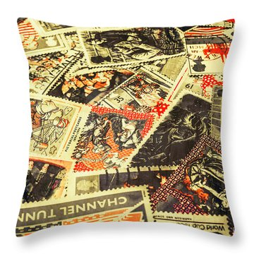 United Kingdom Proof Of Post Throw Pillow