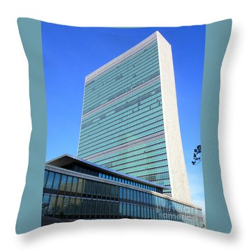 Throw Pillow featuring the photograph United Nations 1 by Randall Weidner