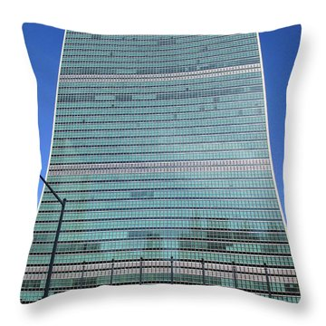 Throw Pillow featuring the photograph United Nations 3 by Randall Weidner