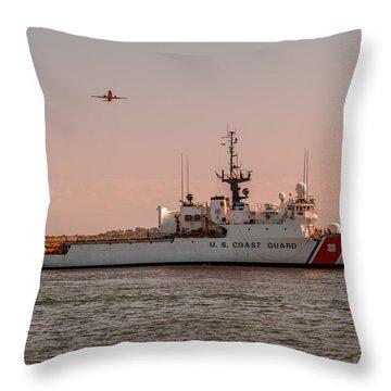 United States Coast Guard Cutter Escanaba Wmec-907 Throw Pillow