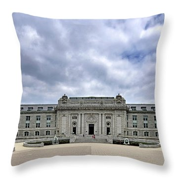 United States Naval Academy - Bancroft Hall Throw Pillow by Brendan Reals
