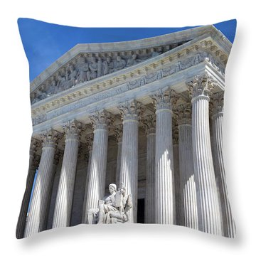 United States Supreme Court Building Throw Pillow