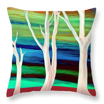 Throw Pillow featuring the photograph United Trees by Munir Alawi