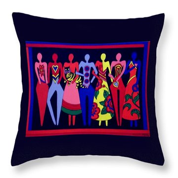 Unity 1 Throw Pillow by Stephanie Moore