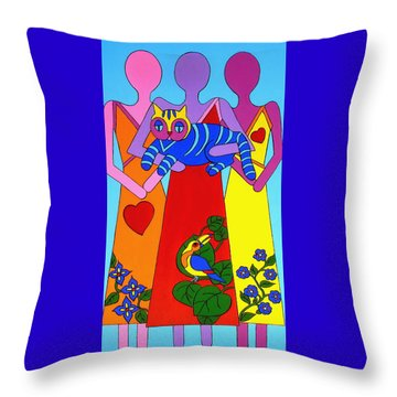 Unity 8 Throw Pillow by Stephanie Moore