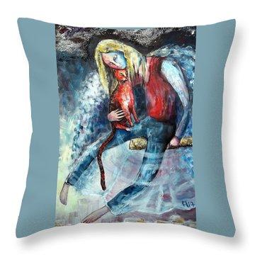 Unity Throw Pillow by Elisheva Nesis