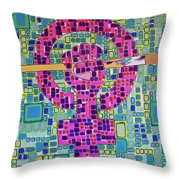 Unity/equality Throw Pillow