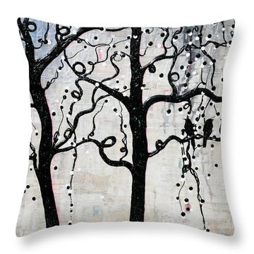 Throw Pillow featuring the mixed media Unity by Natalie Briney