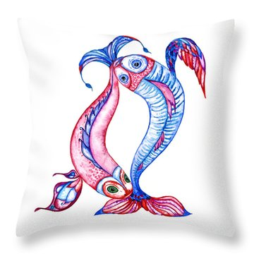 Unity Of Opposites. Perfect Couple Throw Pillow