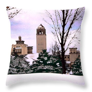 Throw Pillow featuring the photograph Unity Village by Steve Karol