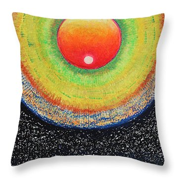 Universal Eye In Red Throw Pillow