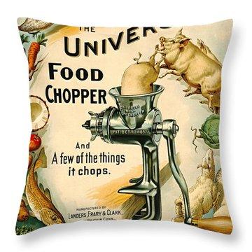 Universal Food Chopper 1897 Throw Pillow