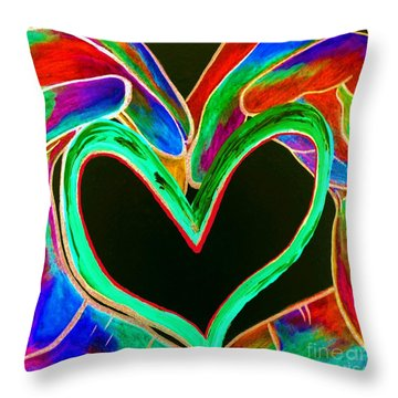 Universal Sign For Love Throw Pillow