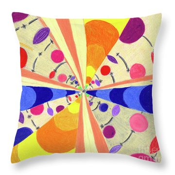 Throw Pillow featuring the drawing Universals by Kim Sy Ok