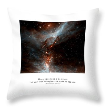 Throw Pillow featuring the photograph Universe Conspires When You Decide by Kristen Fox