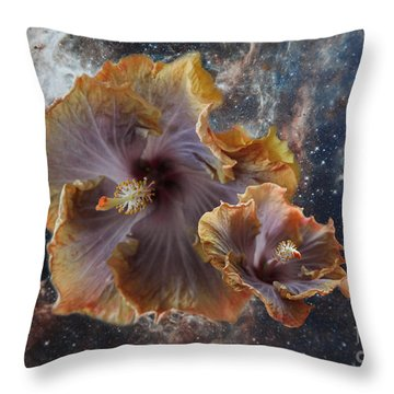Universe Of Flowers Throw Pillow
