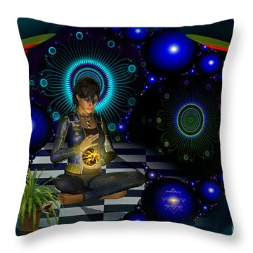 Throw Pillow featuring the digital art Universe by Shadowlea Is