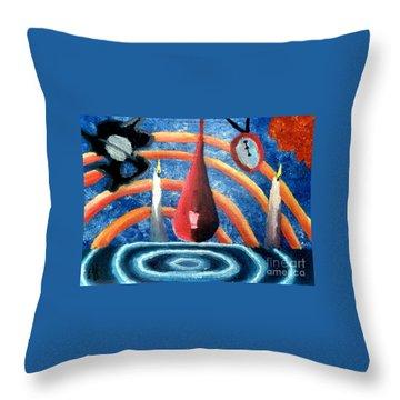 Universe Sky Throw Pillow by Luke Galutia