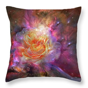 Universe Within A Rose Throw Pillow