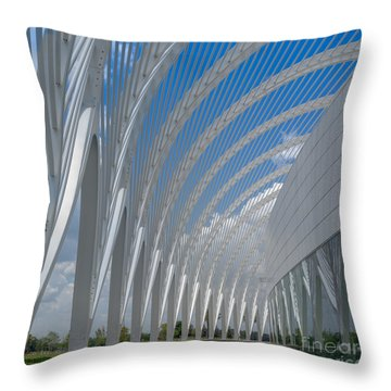 University Arching Lines Throw Pillow