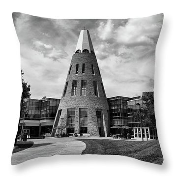 University Center B W Throw Pillow