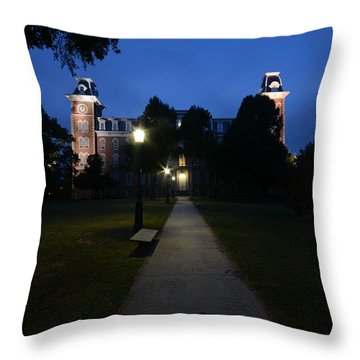 University Of Arkansas Throw Pillow by Chris  Look