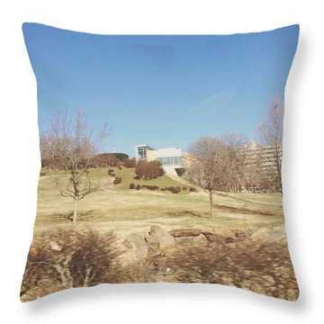 University Of Arkansas Throw Pillow by Jazmine Bernardez