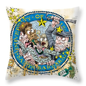 University Of California At Santa Barbara Seal Throw Pillow