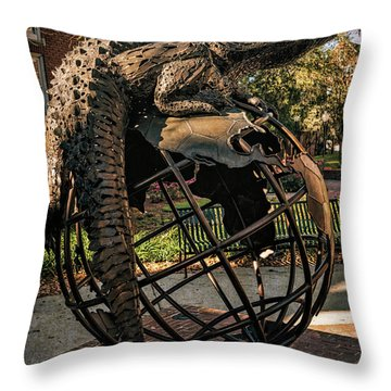 Throw Pillow featuring the photograph University Of Florida Sculpture by Joan Carroll