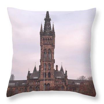 University Of Glasgow At Sunrise Throw Pillow