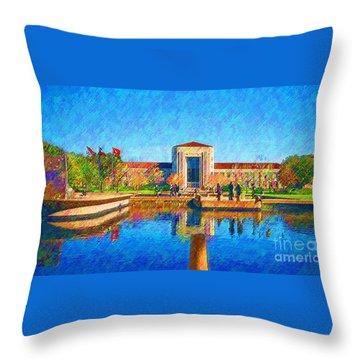 University Of Houston  Throw Pillow