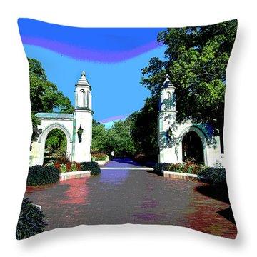 University Of Indiana Throw Pillow