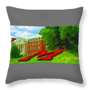University Of Maryland  Throw Pillow
