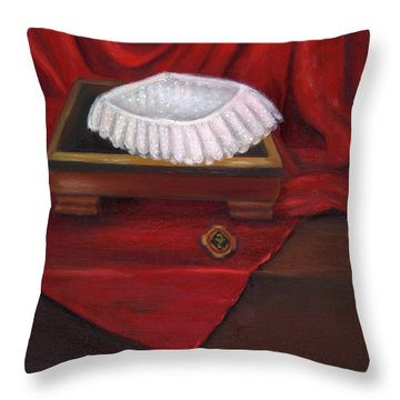 University Of Maryland School Of Nursing Throw Pillow by Marlyn Boyd