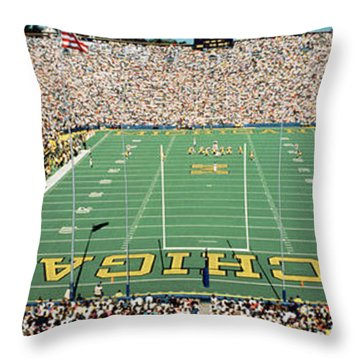 University Of Michigan Stadium, Ann Throw Pillow