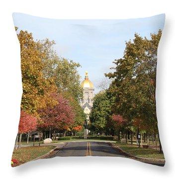 University Of Notre Dame Throw Pillow