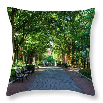 Throw Pillow featuring the photograph University Of Pennsylvania Campus - Philadelphia by Bill Cannon