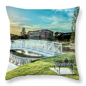 University Of Southern Mississippi Throw Pillow