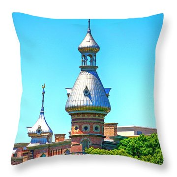University Of Tampa Minaret Fl Throw Pillow