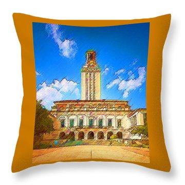 University Of Texas Throw Pillow