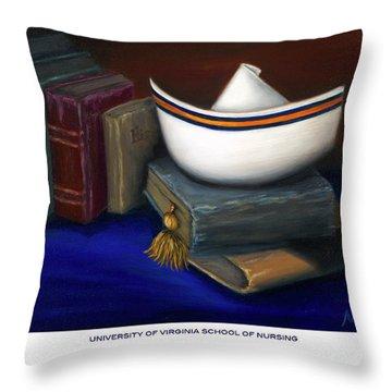 University Of Virginia School Of Nursing Throw Pillow by Marlyn Boyd