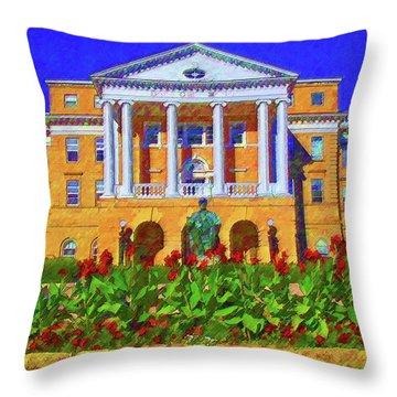 University Of Wisconsin  Throw Pillow