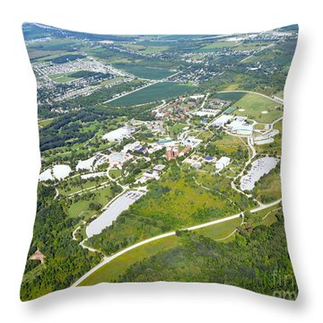 University Of Wisconsin Green Bay 2 Throw Pillow by Bill Lang
