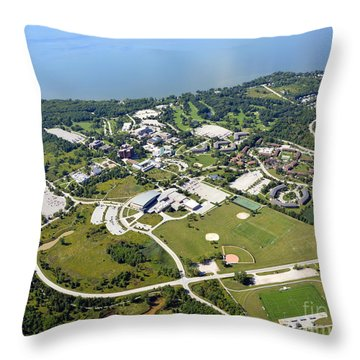 University Of Wisconsin Green Bay Throw Pillow by Bill Lang