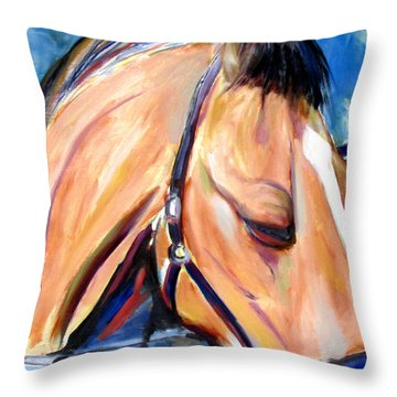 Throw Pillow featuring the painting Unknown Potential by John Jr Gholson