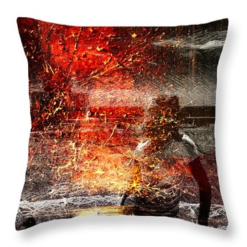 Unknown Red Throw Pillow