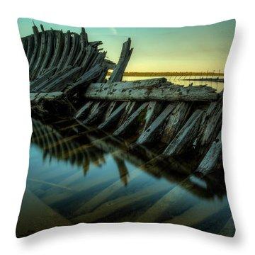 Unknown Shipwreck Throw Pillow by Jakub Sisak