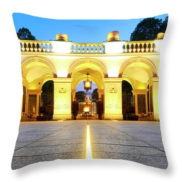 Throw Pillow featuring the photograph Unknown Soldiers' Grave by Fabrizio Troiani